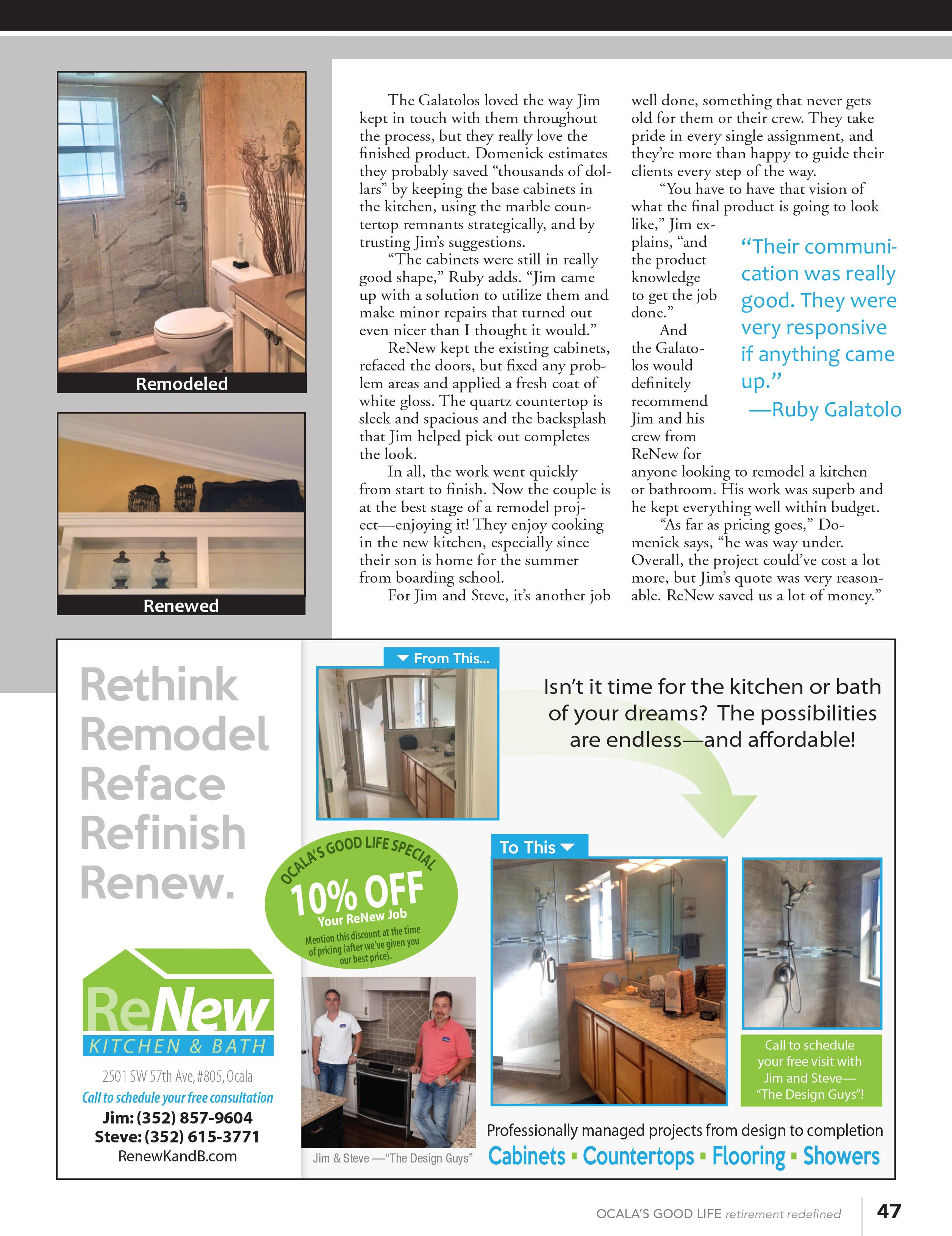 Testimonials Renew Kitchen Amp Bath Design Llc